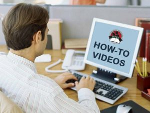 """Man in front of computer with MTPL Logo that says """"how-to-videos"""" underneath"""