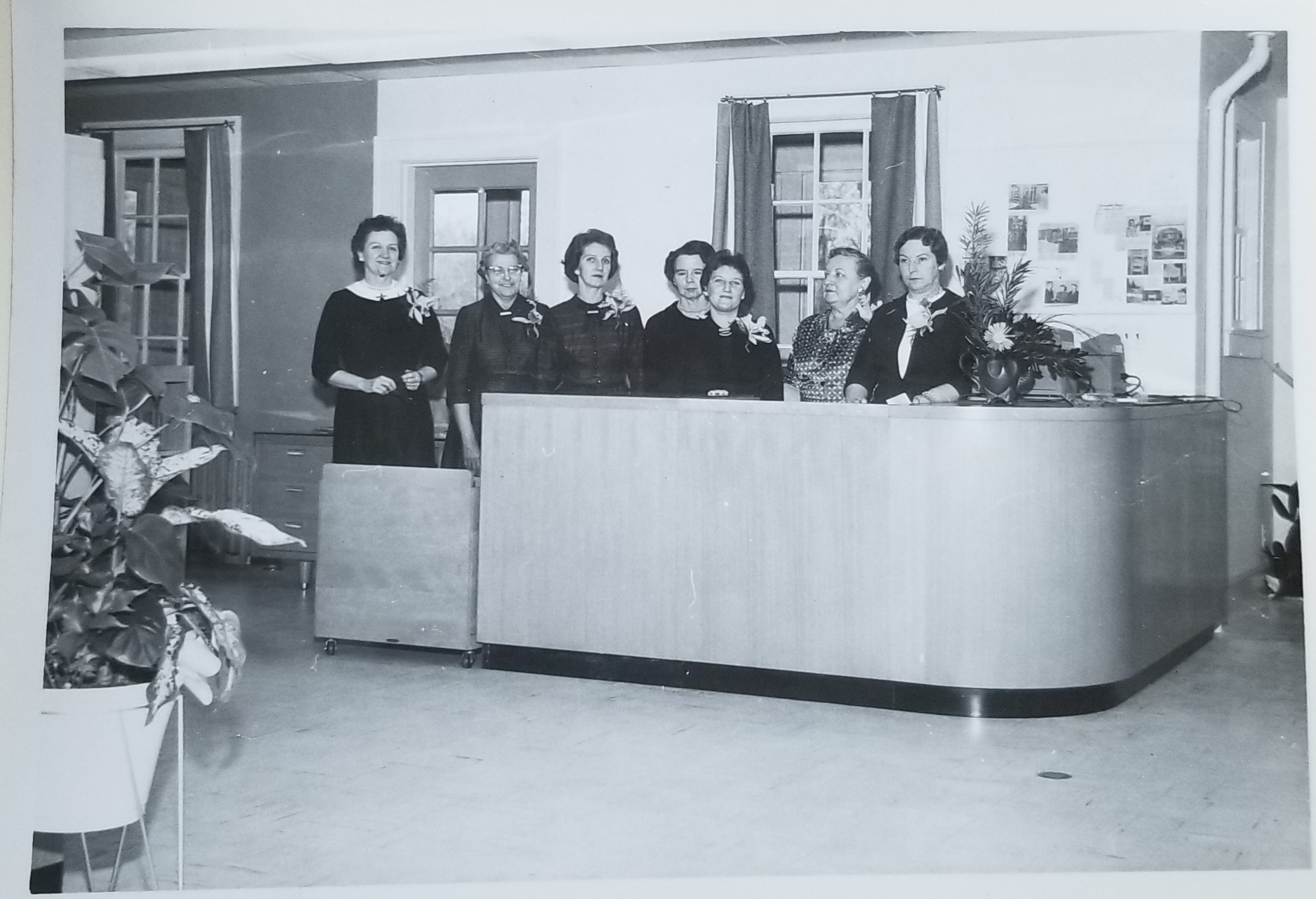 MTPL Staff on Library Opening Day in 1960