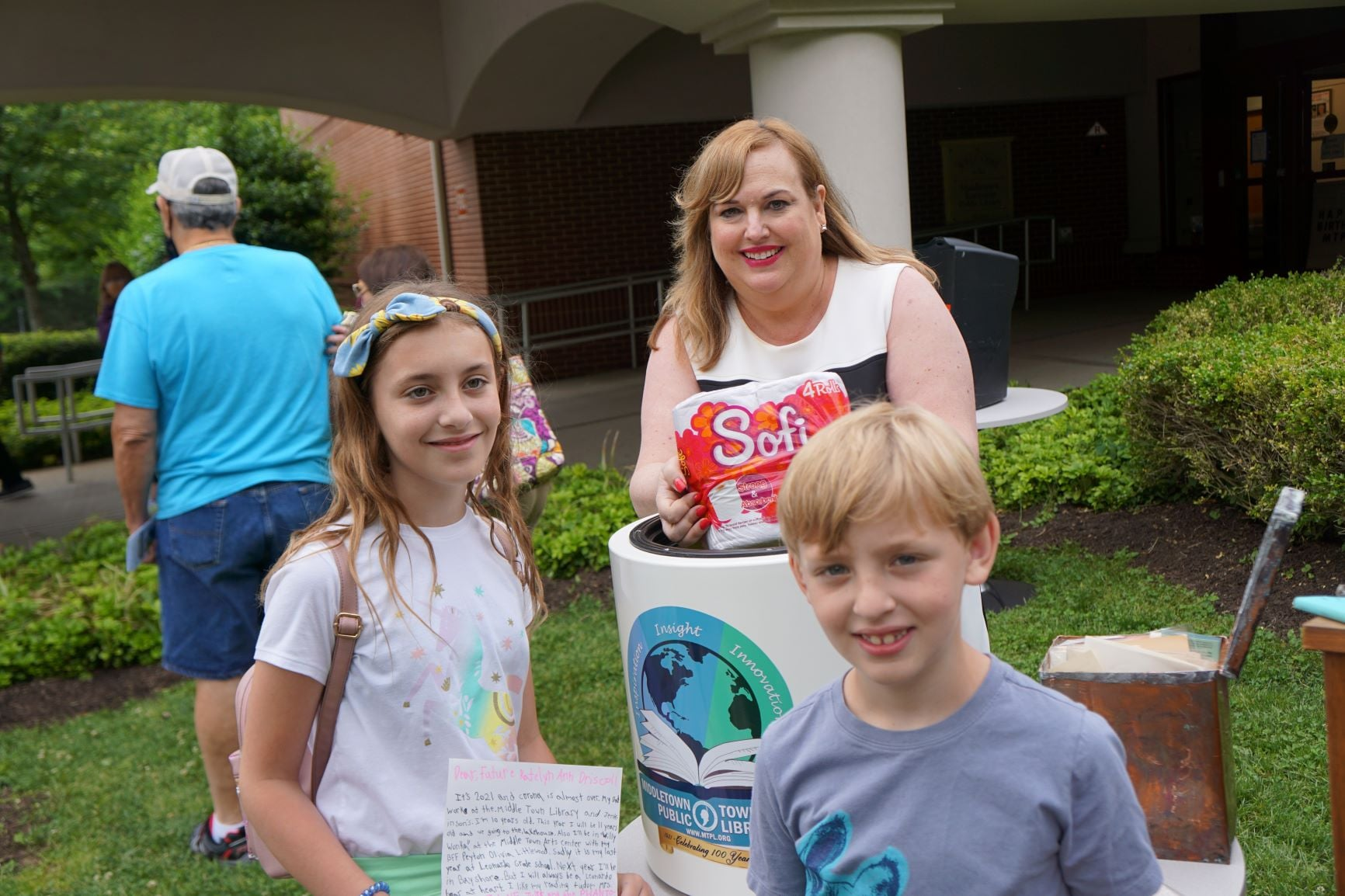 New library time capsule