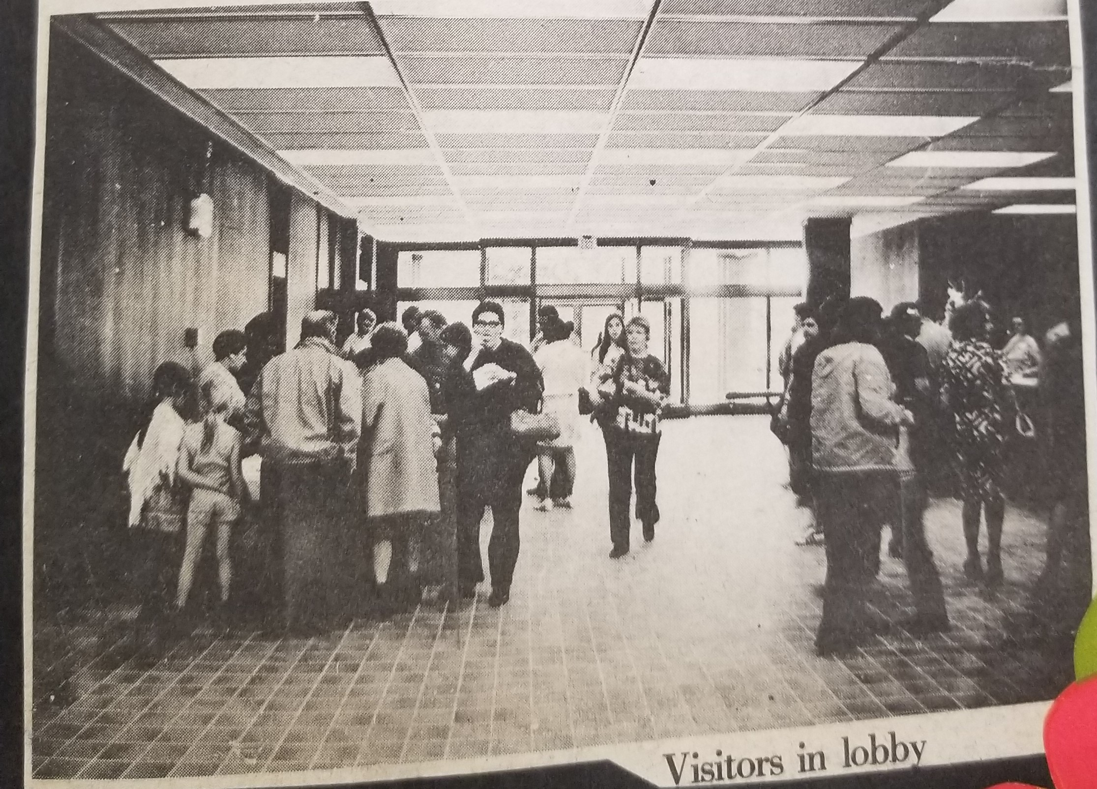 Visitors in Lobby 1960s
